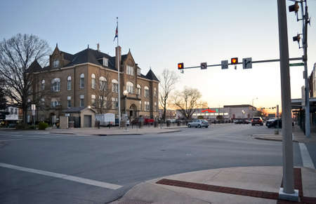 Downtown Kirksville, Missouri Square - April 14, 2019