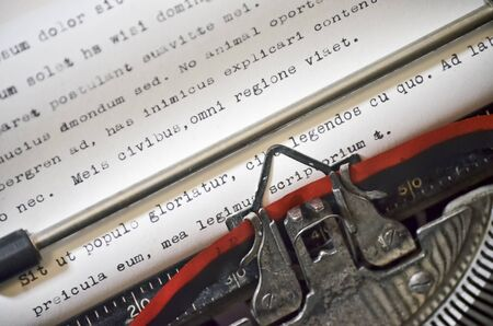 Typewriter Close Up with Filler Text