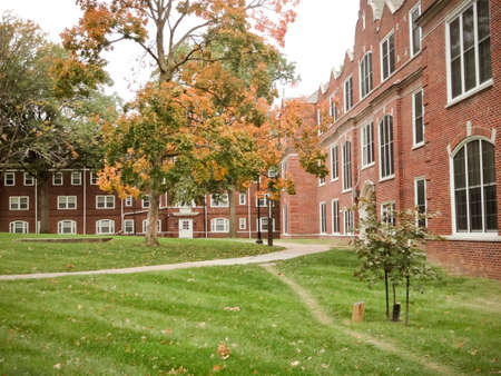 Columbia, Missouri / USA - October 23, 2019: Stephens College campus in the fall Editorial