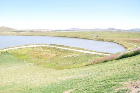 Grassland and lake at Inner Mongolia