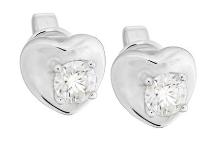 diamond earrings: Diamond Earrings Stock Photo