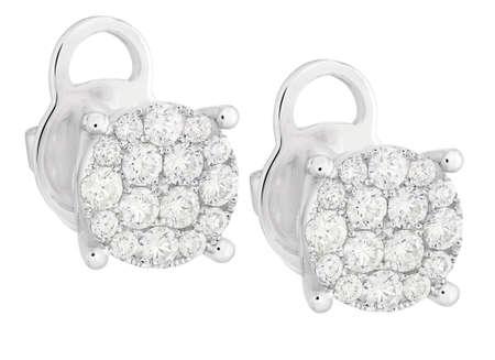 Diamant-Ohrringe Standard-Bild - 43286323