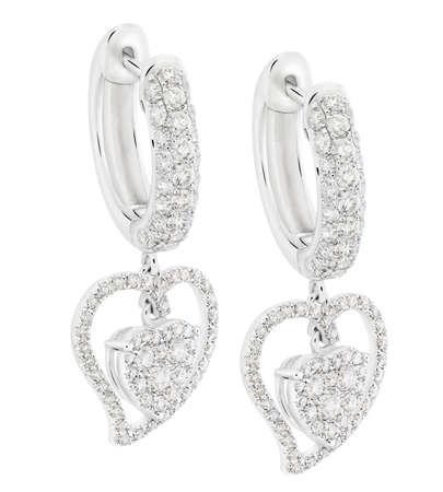 Diamant-Ohrringe Standard-Bild - 43286304
