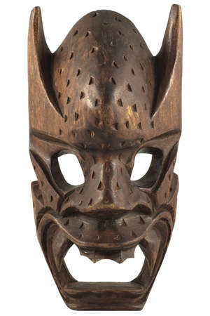 balsa: Hand made beautifully carved wooden mask  Fantastic display of woodcrafting