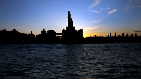 symetry: City Sunset Stock Photo
