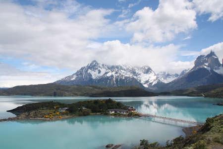 pain�: Lago Pehoe, Torres del Paine, Cile Archivio Fotografico