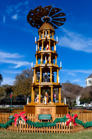 fredericksburg texas november 19 2017 fredericksburg christmas pyramid a german tradition - Fredericksburg Tx Christmas