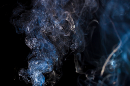 Abstract background with blue colored smoke Stock fotó