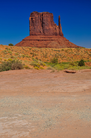 The West Mitten Butte, rock formation, in Monument Valley, Arizona Stock fotó