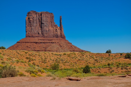 The West Mitten Butte, rock formation, in Monument Valley, Arizona Stock Photo