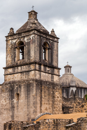 Mission Conception entrance - example of Spanish Colonial Architecture