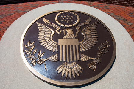 Bronze plaque of The Great Seal of the United States
