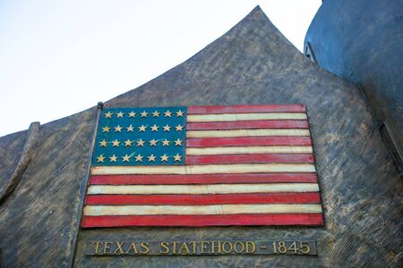 United States of the America flag memorial celebrating the annexation of Texas into USA territory in 1845