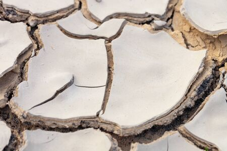 Dried and cracked earth pattern, drought concept