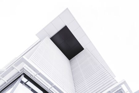 Abstract architecture, low angle view of modern contemporary building corner
