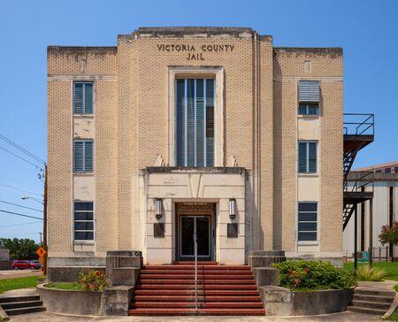 VICTORIA, TEXAS - JUNE 9, 2019 - Building of Victoria County Jail in Texas 新聞圖片