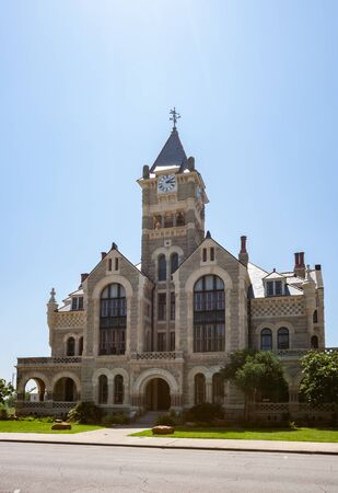 VICTORIA, TEXAS - JUNE 9, 2019 - Historic Victoria County Courthouse built in 1823