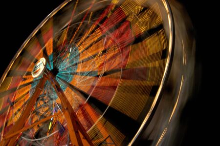 Ferris Wheel at Night Imagens