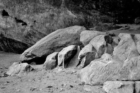 Nature - Engraved Rocks Stock fotó