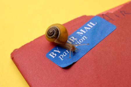 Air Mail Snail Mail Concept Banco de Imagens