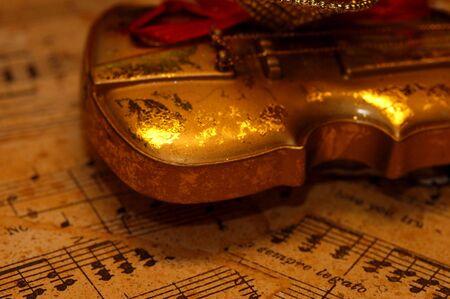 Violino e musica  Archivio Fotografico - 546921
