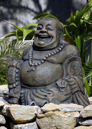 A happy oriental buddha statue.
