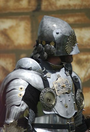 roleplaying: A knight in armor Stock Photo