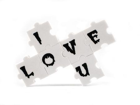 i love u: Les pi�ces d'un puzzle en exprimant le message que j'ai l'amour u.