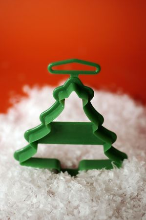 A christmas cookie cutter in the shape of a tree
