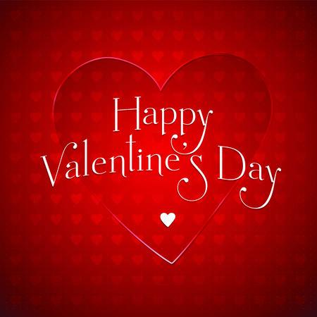 幸せな Valentine  イラスト・ベクター素材