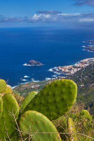 ガランチコ町、テネリフェ島、カナリア諸島のパノラマ ビュー