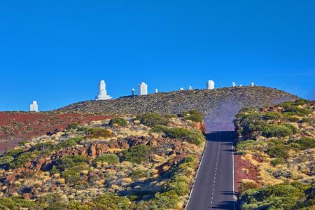 テネリフェ島テイデ天文台の望遠鏡 写真素材