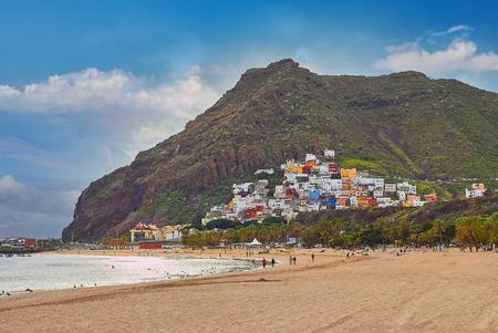 黄砂とビーチ ラス テレシタスのすばらしい眺め