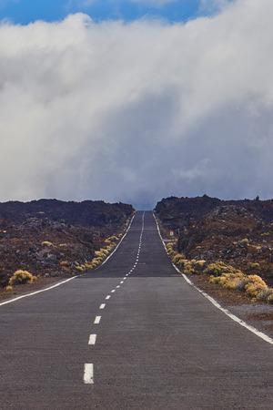 long way: Long way road on vulcan El Teide National Park in Tenerife
