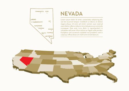 nevada: 3D State map - NEVADA
