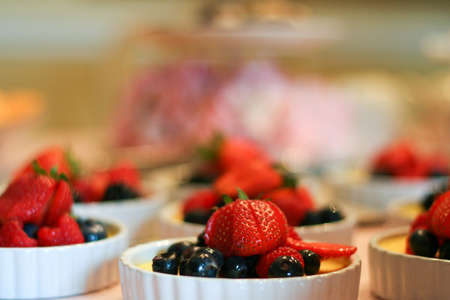 Creme Brulee with berries  photo