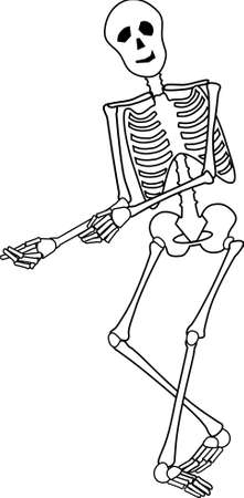 Smiling Skeleton posed to sell product