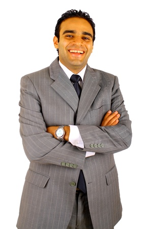 Smiling young businessman isolated on white Stock Photo - 9229626
