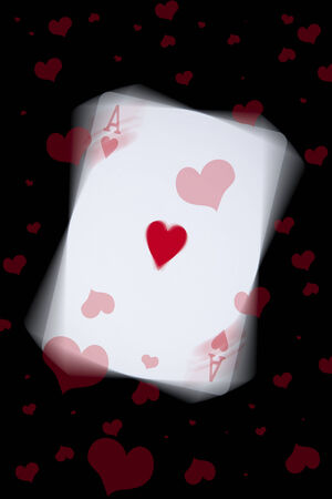 An ace of hearts playing card with hearts around it Stock fotó