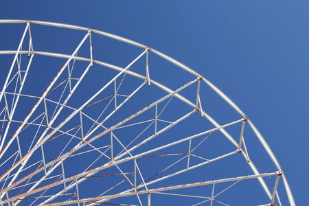 dismantled: A ferris wheel has been dismantled for winter at a seaside resort