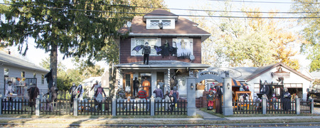 goblins: A house is all decked out for Halloween with just about every spooky thing you could think of   Photo taken on October 26, 2013 in Woodbridge, New Jersey