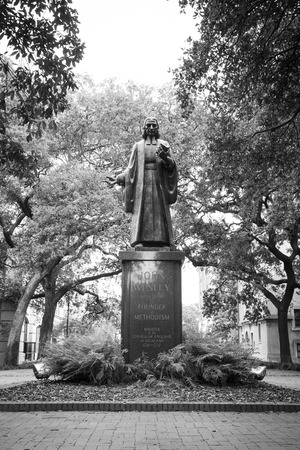wesley: A statue of John Wesley, the Founder of Methodism in one of Savannah, Georgia