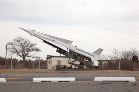 ajax: A Nike missile on display at the Sandy Hook National Recreation Center in New Jersey; Fort Hancock