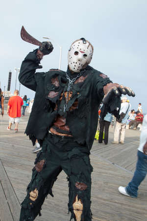 Photos of Zombies walking on the boardwalk and through the streets of Asbury Park, New Jersey during the 2013 Asbury Park Zombie Walk.  This year they took back the Guinness Book of World Records record for the largest gathering of zombies! Here is Jason