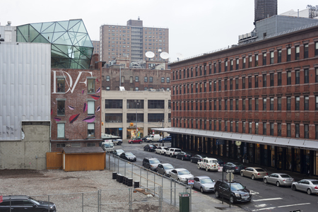 A view of part of the Meatingpacking District in New York City as seen from the High Line   The work and living space of Diane Von Furstenberg can be seen on the left side of the photo     Editorial Use Only