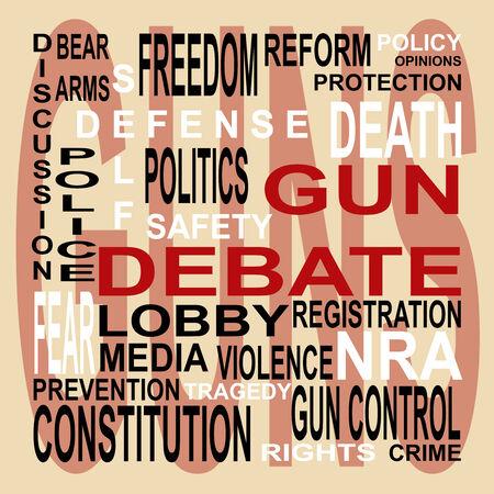 Words depict the controversial gun debate photo