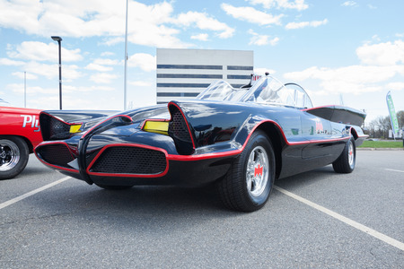 autos: APRIL 26, 2015 - Woodbridge, NJ: A replica of the original Batmobile is shown at a local car show. Editorial