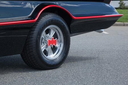 woodbridge: APRIL 26, 2015 - Woodbridge, NJ: A replica of the original Batmobile is shown at a local car show. Editorial
