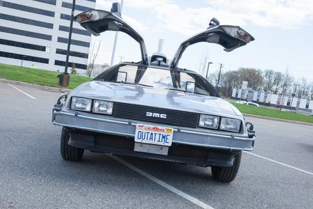 APRIL 26, 2015 - Woodbridge, NJ: A replica of the Back to the Future DeLorean is shown at a local car show Sajtókép