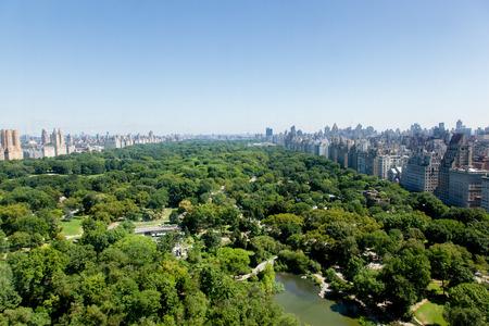 Une vue aérienne de Central Park à New York depuis Central Park South